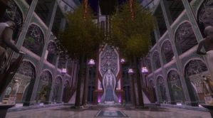 Central Courtyard  of the House of Lord Elrond by WorldOfMiddle-earth