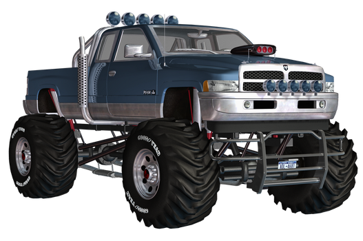 Dodge Big Truck PNG Stock by Roy3D
