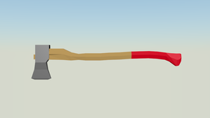 Low poly Axe by KassEscoe