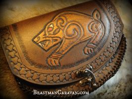 Celtic Bear Pouch by The-Beast-Man