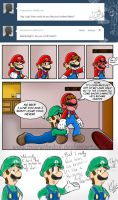 .:Luigi's tumblr question 3:. by Miapon