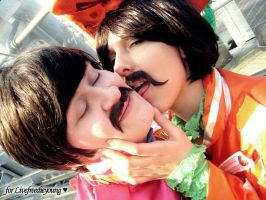 With a little HELP from George :D Beatles Cosplay by Murdoc-lein