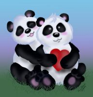 Panda Love by PixlPhantasy
