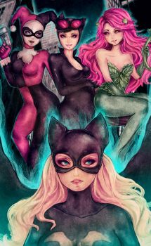 Gotham Girls by DarienDoodles