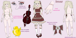 Amour Detailed Reference Sheet Commission by mikitfence