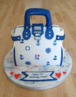 Pauls Boutique Nautical Bag Cake. by RebeccaRoseBrine