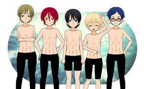 Free! - Kisekae Version by Xx-Chellie-Bellie-xX
