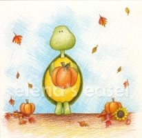 Autumn Turtle by ElenasEasel