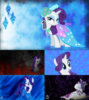 Rarity Quintuple Wallpaper Pack by Ion-Death