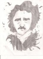 Edgar Allan Poe Sketch by MaxDaMonkey