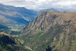 NZ Mountain face into valley by Chunga-Stock