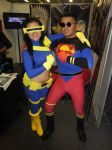 Superboy and Ciclyps girl by eriksuperboy