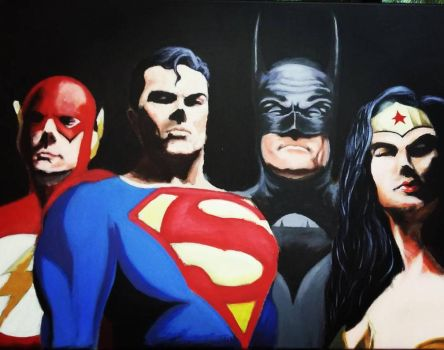 Justice League Painting by saitokazuki