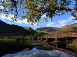 Bridge over Loch Awe by celtes