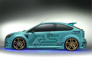 Ford Focus RS 2009 Blinged by christara