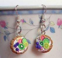 Fruit Tart Earrings by Cuddlebugeeshi