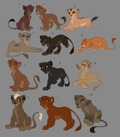 Lion King Cub Adoptables (Final batch) by Kitchiki