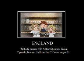 Hetalia Motivational Poster-England by bowdowntomeordie