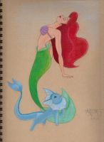 Ariel and Vaporeon by ISleepWithSirens