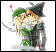 Wizard101 couple by PinkLovii
