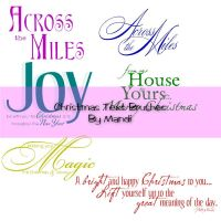 Christmas Text Brushes Pack 1 by MandiMoore87