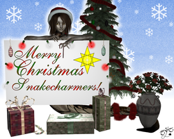 Merry Xmas Snakecharmers by Llrael