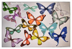Butterfly and Moth Masks by che4u