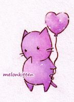 purple melonkitten by Melonkitten