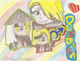 Deidara Drawing :D by xXmariisa23Xx