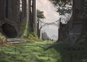 Guard shift by jacobharnwell on deviantart for Courtyard landscape oostburg wi