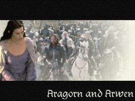 Aragorn and Arwen by Faticia