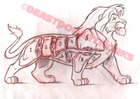 THE LOIN KING rough pencils by pop-monkey