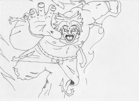 black and white Broly by GN58