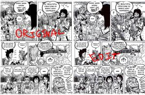 Rough house page re-inking by Nigzblackman