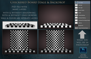 Checkered Board Stage by LauraShepherd by LShepherd
