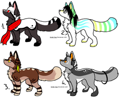 CLOSED - Canines Adoptables 347 by LeaAdoptables