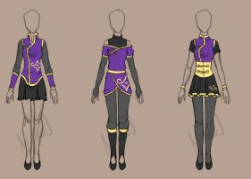 Kurome clan: Female formal dresses - Example by NaikoruJ