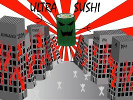 Ultra Sushi Venue Poster by kwafilia