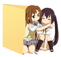 Yui AND Azusa Folder Icon [K-ON] by Hinatka3991