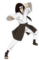Neji Hyuuga - lineart colored by DennisStelly