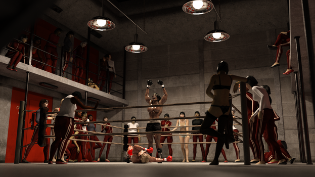Angelique LeStrange in the Prison Boxing League by AFCombat