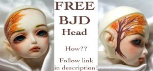 Free BJD Head Giveaway by Izabeth