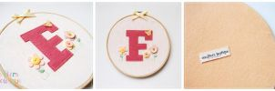 Customized Monogram Hoop for Fiona by bibiluv
