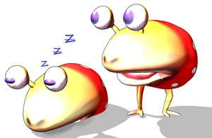 {MMD Model} Spotted Bulborb by UniTheLucario