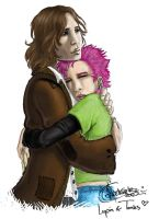 Lupin and Tonks by Finnguala