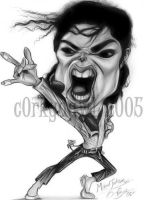 Michael Jackson Caricature by c0rkydawL