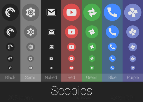 Scopics - Icons for Android by Scope10