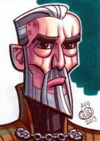 Count Dooku Sketch Card by Chad73