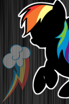 Rainbow Dash Silhouette iPod/iPhone Wallpaper by AlphaMuppet