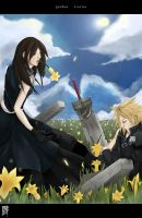 Cloud + Tifa - Garden Stories by winterlotus